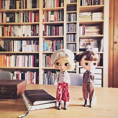 Lola and Mati on my table while I make my lists of jobs for the day! I saw two girls in the Tate st. Ives the other day whose lovely outfits inspired what these two are wearing #themoshlings #blythestagram #onmydesk #dollphotography #inspiration (little_moshi) Tags: instagram ifttt