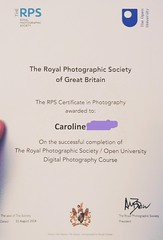 Ta dah! Couldn't resist blowing my own trumpet 😊 just received my photography certificate! Passed successfully (picsbyCaroline) Tags: photography certificate learning proud achieved openuni rps