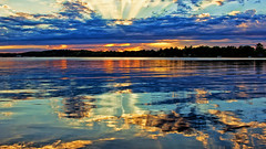 I Wonder what's beyond the trees ?? (Bob's Digital Eye) Tags: bobsdigitaleye canon clouds efs24mmf28stm flicker flickr july2018 laquintaessenza lake lakesunsets lakescape reflections silhouette sky skyscape sun sunset sunsetsoverwater t3i water