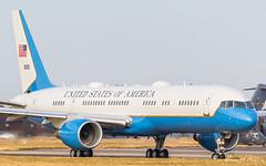 USAF C-32 (Green 14 Pictures) Tags: 090015 150thspecialoperationssquadron 1stairliftsquadron boeing757 boeingc32 boeingc32a c32 egun england mhz rafmildenhall royalairforcemildenhall uk usaf unitedkingdom unitedstatesairforce vip forestheath verenigdkoninkrijk gb