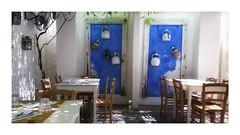 Une trattoria (Jean-Louis DUMAS) Tags: table chaises cuisine blue bleu restaurant
