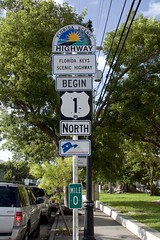 and so it begins (ucumari photography) Tags: ucumariphotography us route one 1 rt1 sign start begin road highway keywest fl florida july 2018 dsc3291 mile0