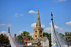 2 Up (6079 Jones, P) Tags: img9751 bedford riverfestival rivergreatouse bedfordshire england uk july 2018 canon eos 1200d canonef55200mm telephoto zoomlens stpauls saint church sky clouds fly board flyboard water propulsion propelled town bridge spire bigair