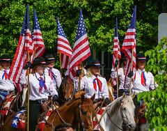 Colors On The Mount - Bozeman, MT                 (Explored 08/04/2018) (j-rye) Tags: memorialholiday parade flags horses riders women sonyalpha sonya6000 sony a6000 ilce6000 mirrorless bozeman montana
