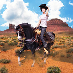 Ride a horse (RockWan FR) Tags: horse fashionroyalty eugenia eugeniaperrinfrost fashiondoll integritytoys