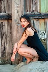 Seawall (oshcan) Tags: model beach girl sunset beautiful portrait nikon d4s 85mm14 summer evening