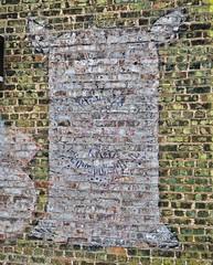 Pillsbury's Flour, Gwinn, MI (Robby Virus) Tags: gwinn michigan mi up upper peninsula pillsbury pillsburys flour ghost sign signage ad advertisement brick wall detail closeup