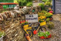 Nicest No Parking Sign Ever (Billy McDonald) Tags: hdr noparking village killin scotland