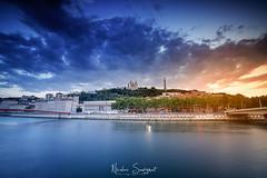 Sunset Lyonnais (Njones03) Tags: 2018 bluehour clouds lyon nicolassavignat nisi nisifilters nisifrance river sky sunset lyon2earrondissement auvergnerhônealpes france fr