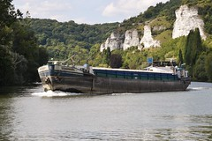 Les Andelys 1 August 2018 (19) (paul_appleyard) Tags: eure france august 2018 les andelys river seine barge bahamas boat water