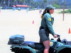 Beach Patrol (thomasgorman1) Tags: woman police patrol beach sand atv vehicle malibu zuma ca canon shore people outdoors