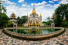 Panorama of Buu Long Pagoda in Ho Chi Minh City. A beautiful buddhist temple hidden away in Ho Chi Minh City at Vietnam (MongkolChuewong) Tags: aerial aerialview architecture beautiful blue buddha buddhism buddhist built buu chi city cityscape culture destinations dragon endurance gold golden high ho hochiminh indian landscape long minh myanmar pagoda panorama park peace praying pursuit religion scene sky spirituality statue structure synagogue temple thailand tourism tourist tranquil travel vietnam vietnamese visit yellow hochiminhcity hồchíminh vn