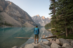 At Moraine Lake (luke.me.up) Tags: lake water mountains stillness nikon d850 morainelake banffnationalpark lakelouise