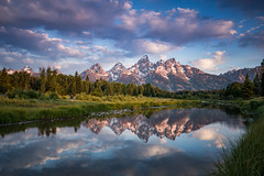 Schwabacher Landing (Jeremy Duguid) Tags: grand teton national park travel nature landscape sunrise morning reflection mountain mountains sony jeremy duguid trees clouds dawn west western rockies rocky wyoming yellowstone wy jackson hole