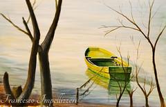The boat in the lake---Alberto Asta (Francesco Impellizzeri) Tags: alberto asta painting boat lake landscape
