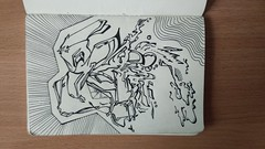 """back to"" ...2015-2016 year (something like that) (ginnumberone1) Tags: gin sketch graffiti graphic art artwork painting drawing instaart style liner abstract sketchbook old 2015 2016"