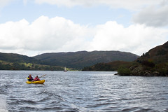 Kayaking (phoebe.horner) Tags: lake district england united kingdom walking walk walks mountains hills country countryside britain british lakes thirlmere ullswater hellvelyn rydal buttermere fisher gill spout force waterfall waterfalls boat boats landscape landscapes aira bridge bridges