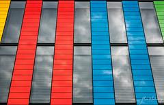 Bâtiement BI Epfl (alain.winterberger) Tags: epfl lausanne batiment bâtiment bâtimentbi campus architecture architecte couleur colors facade suisse switzerland schweiz svizerra