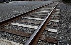 "Rail (Millie Cruz ""On and Off"") Tags: train rails stones metal iron wood perspective canoneos5dmarkiii ef24105mmf4lisusm lititzpa pennsylvania"