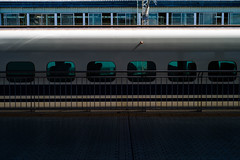 Faster than Light (John Smith Fitzgerald) Tags: mishima 三島 新幹線 train shinkansen leica m9 leicam9 ライカ エルマー elmar station