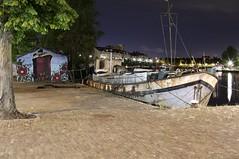 2017-07-15-02-07_00001 (saszownik) Tags: urban zuidholland netherlands rotterdam city river boat night graffity nightcity