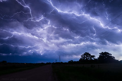 Anvil Crawler Lightning (mesocyclone70) Tags: lightning anvilcrawler storm thunderstorm electricity stormchase nightphotography sky therebeastormabrewin