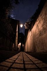 La Ruelle (TristanLohengrin) Tags: ruelle street route road bâtiment mur urbain ciel arbre tree sky lanterne lantern light dark sombre lumière