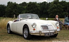 MG A 1966 (XBXG) Tags: 8091bu mg a 1966 mga cabriolet cabrio convertible roadster tourer white blanc classiccarsaeroplanes 2018 seppe breda international airport ehse seppeairport vliegveldseppe seppeairparc vliegveld luchthaven aéroport meeting carmeeting bosschenhoofd noordbrabant brabant nederland netherlands holland paysbas vintage old classic british car auto automobile voiture ancienne anglaise brits uk vehicle outdoor