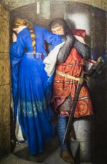 """The Meeting on the Turret Stairs"" by Frederic William Burton (Suni Lynn Lee) Tags: ireland nationalmuseumofart art painting meetingontheturretstairs fredericwilliamburton meeting turretstairs hellelil hildebrand burton watercolor gouache"