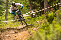 Prali Gara DH 2018-58 ( YariGhidone ) Tags: rosso downhill prali dh mountain bike mtb sport action extreme