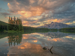 Sunrise@Two Jack Lake (FollowingNature (Yao Liu)) Tags: ngc followingnature banff canada sunrise twojacklake banffnationalpark