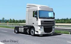 DAF XF 105 (Alberto Vasquez25) Tags: ets2 truck daf xf 105 360 spacecab plus 4x2 low deck road