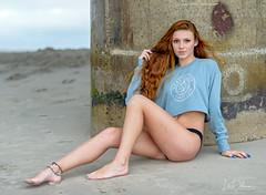 Raquet Club (oshcan) Tags: model beach bikini redhead portrait nikon d4s 85mm14 summer