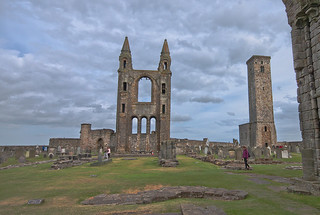 My holday trip to Scotland. Saint Andrews Cathedral, near the heaven.