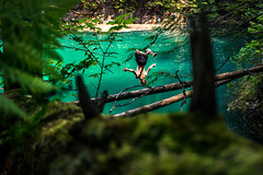 You can't beat the heat? (jonathan.paar) Tags: swimming mountain landscape canada kootenay revelstoke nakusp nelson canon t3i 24mm lagoon rockies