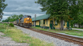 CSX U355-05 at the old SAL Depot in Gibson