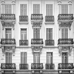 Balkone (Ralf Westhues) Tags: cannes frankreich france rue félix faure félixfaure sw bw black white schwarz weis noir blanc fassade facade balkon balcony garedesautobus mairie havre pharmacie