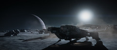 Landing on the Cellin 4K 21:9 (Corsair62) Tags: star citizen game screenshot squadron 42 flight space ship cig robert industies pc ingame shot simulator video wallpaper corsair62 photography reclaimer 4k 219 gaming image scifi foundry cloud imperium games cutlass black cellin