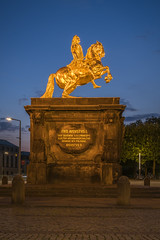 Friedrich August of Saxony - the golden rider (stefanfricke) Tags: friedrichaugust saxony sachsen gold rider dresden sony ilce7rm2 sel1635z bluehour