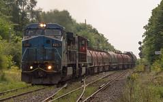 Hot, Hazy, Blue Devil (Joseph Bishop) Tags: ic 2456 ge c408w trains train track tracks railfan railroad railway rail rails cndundassubdivision hardyroad hardy