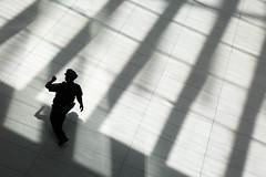New York, United States (gstads) Tags: newyork ny nyc police watch time shadow shadows silhouette light wtc worldtradecenter unitedstates us usa line lines geometry geometric nypd policeman
