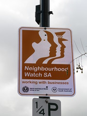 New 'Neighbourhood Watch' sign in Salisbury (RS 1990) Tags: neighbourhoodwatch businesswatch new sign australia adelaide southaustralia friday 17th august 2018