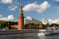 Moscow Kremlin View from the River (Svetlana Serdiukova) Tags: moscow russia river architecture russian tower towers summer boattrip belltower