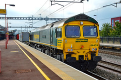 66534 - Rugby - 21/07/18. (TRphotography04) Tags: freightliner 66534 hajan express powers past rugby with 0425 felixstowe north flt lawley street