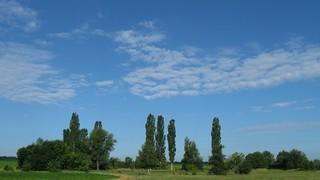 Beautiful morning landscape. Lebedin. Ukraine.
