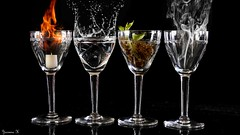 #Four Elements (ΨᗩSᗰIᘉᗴ HᗴᘉS +20 000 000 thx) Tags: four elements fourelements 4éléments water air fire earth terre eau feu flickrfriday flickerfriday friday verre glass crystal cristal creative hensyasmine namur belgium europa aaa namuroise look photo friends be wow yasminehens interest intersting eu fr greatphotographers lanamuroise tellmeastory flickering
