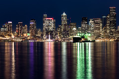 Downtown Seattle (Ron Raffety) Tags: seattle downtownseattle skyline ronraffety seattleskyline seattlebynight