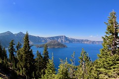 Clear Deep Blue (daveynin) Tags: craterlake nps oregon blue lake island volcanic crater