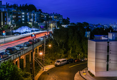 grandview terrace ll (pbo31) Tags: bayarea california nikon d810 color night dark black august summer 2018 boury pbo31 sanfrancisco city urban lightstream traffic grandview market street twinpeaks bluehour upper over roadway motion