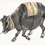 Black bull by Kōno Bairei (1844-1895). Digitally enhanced from our own original 1913 edition of Barei Gakan. thumbnail